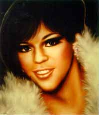 Painting of Florence Ballard of the Supremes